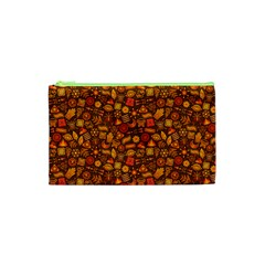 Pattern Background Ethnic Tribal Cosmetic Bag (XS)