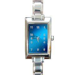Fractals Lines Wave Pattern Rectangle Italian Charm Watch