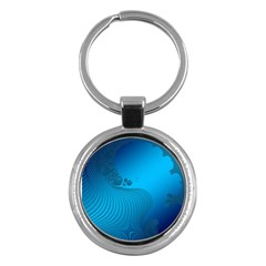 Fractals Lines Wave Pattern Key Chains (Round)