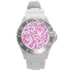 Pattern Round Plastic Sport Watch (L)