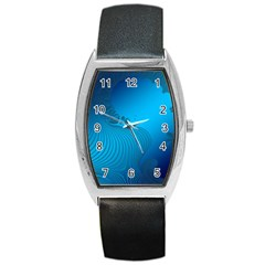 Fractals Lines Wave Pattern Barrel Style Metal Watch