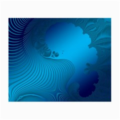 Fractals Lines Wave Pattern Small Glasses Cloth