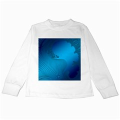 Fractals Lines Wave Pattern Kids Long Sleeve T Shirts