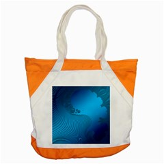 Fractals Lines Wave Pattern Accent Tote Bag