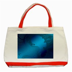 Fractals Lines Wave Pattern Classic Tote Bag (red)