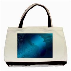 Fractals Lines Wave Pattern Basic Tote Bag (two Sides)