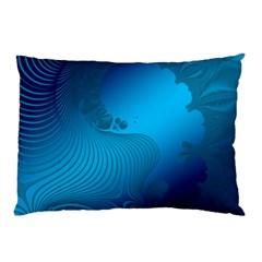 Fractals Lines Wave Pattern Pillow Case