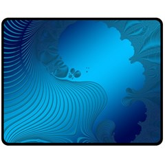 Fractals Lines Wave Pattern Fleece Blanket (medium)