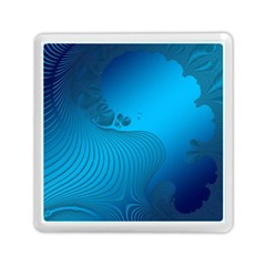 Fractals Lines Wave Pattern Memory Card Reader (square)