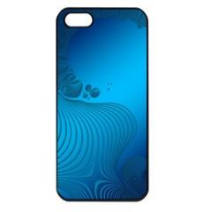 Fractals Lines Wave Pattern Apple iPhone 5 Seamless Case (Black)