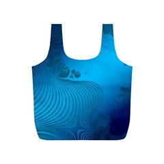 Fractals Lines Wave Pattern Full Print Recycle Bags (s)