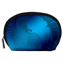 Fractals Lines Wave Pattern Accessory Pouches (Large)
