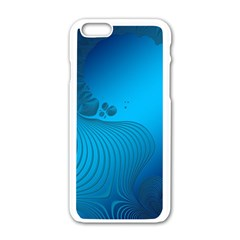 Fractals Lines Wave Pattern Apple iPhone 6/6S White Enamel Case