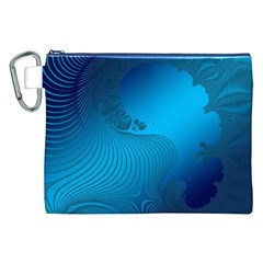 Fractals Lines Wave Pattern Canvas Cosmetic Bag (XXL)