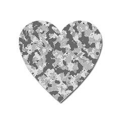 Camouflage Patterns  Heart Magnet