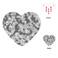 Camouflage Patterns  Playing Cards (Heart)