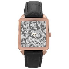 Camouflage Patterns  Rose Gold Leather Watch
