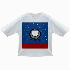 A Rocket Ship Sits On A Red Planet With Gold Stars In The Background Infant/Toddler T-Shirts