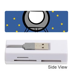 A Rocket Ship Sits On A Red Planet With Gold Stars In The Background Memory Card Reader (stick)