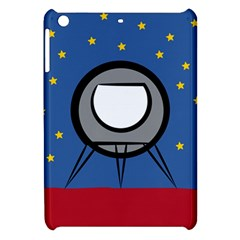 A Rocket Ship Sits On A Red Planet With Gold Stars In The Background Apple iPad Mini Hardshell Case