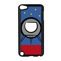 A Rocket Ship Sits On A Red Planet With Gold Stars In The Background Apple iPod Touch 5 Case (Black)