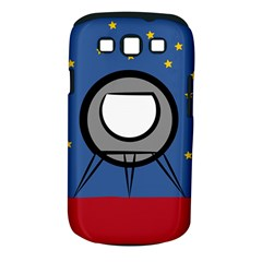 A Rocket Ship Sits On A Red Planet With Gold Stars In The Background Samsung Galaxy S III Classic Hardshell Case (PC+Silicone)