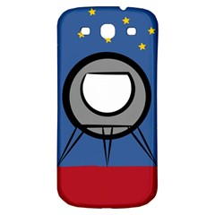 A Rocket Ship Sits On A Red Planet With Gold Stars In The Background Samsung Galaxy S3 S Iii Classic Hardshell Back Case