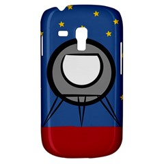 A Rocket Ship Sits On A Red Planet With Gold Stars In The Background Galaxy S3 Mini