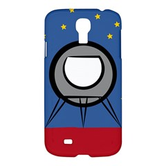 A Rocket Ship Sits On A Red Planet With Gold Stars In The Background Samsung Galaxy S4 I9500/i9505 Hardshell Case