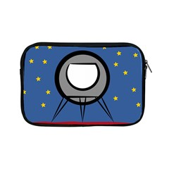 A Rocket Ship Sits On A Red Planet With Gold Stars In The Background Apple iPad Mini Zipper Cases