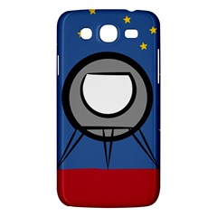 A Rocket Ship Sits On A Red Planet With Gold Stars In The Background Samsung Galaxy Mega 5.8 I9152 Hardshell Case