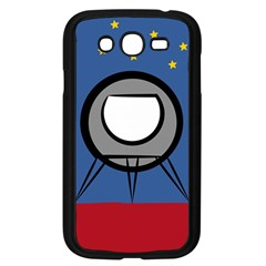 A Rocket Ship Sits On A Red Planet With Gold Stars In The Background Samsung Galaxy Grand DUOS I9082 Case (Black)