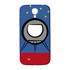A Rocket Ship Sits On A Red Planet With Gold Stars In The Background Samsung Galaxy S4 I9500/I9505  Hardshell Back Case