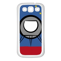 A Rocket Ship Sits On A Red Planet With Gold Stars In The Background Samsung Galaxy S3 Back Case (White)