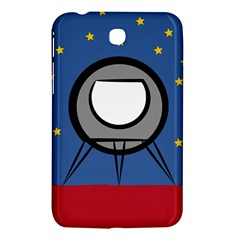 A Rocket Ship Sits On A Red Planet With Gold Stars In The Background Samsung Galaxy Tab 3 (7 ) P3200 Hardshell Case