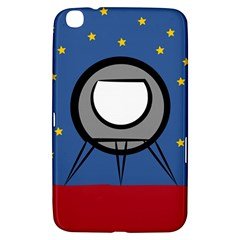 A Rocket Ship Sits On A Red Planet With Gold Stars In The Background Samsung Galaxy Tab 3 (8 ) T3100 Hardshell Case