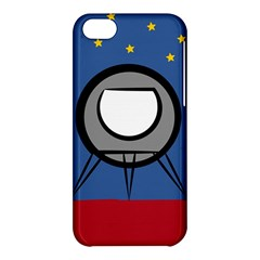 A Rocket Ship Sits On A Red Planet With Gold Stars In The Background Apple iPhone 5C Hardshell Case