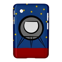 A Rocket Ship Sits On A Red Planet With Gold Stars In The Background Samsung Galaxy Tab 2 (7 ) P3100 Hardshell Case