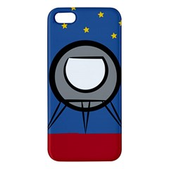 A Rocket Ship Sits On A Red Planet With Gold Stars In The Background iPhone 5S/ SE Premium Hardshell Case