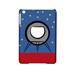 A Rocket Ship Sits On A Red Planet With Gold Stars In The Background iPad Mini 2 Hardshell Cases