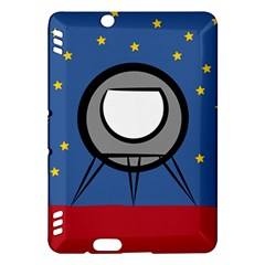 A Rocket Ship Sits On A Red Planet With Gold Stars In The Background Kindle Fire HDX Hardshell Case