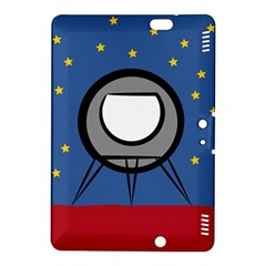 A Rocket Ship Sits On A Red Planet With Gold Stars In The Background Kindle Fire HDX 8.9  Hardshell Case