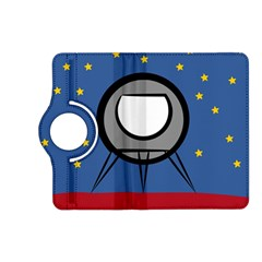 A Rocket Ship Sits On A Red Planet With Gold Stars In The Background Kindle Fire HD (2013) Flip 360 Case