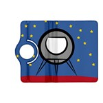 A Rocket Ship Sits On A Red Planet With Gold Stars In The Background Kindle Fire HD (2013) Flip 360 Case Front