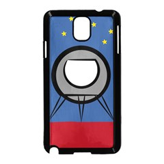 A Rocket Ship Sits On A Red Planet With Gold Stars In The Background Samsung Galaxy Note 3 Neo Hardshell Case (Black)