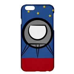 A Rocket Ship Sits On A Red Planet With Gold Stars In The Background Apple iPhone 6 Plus/6S Plus Hardshell Case