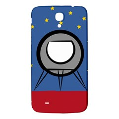 A Rocket Ship Sits On A Red Planet With Gold Stars In The Background Samsung Galaxy Mega I9200 Hardshell Back Case