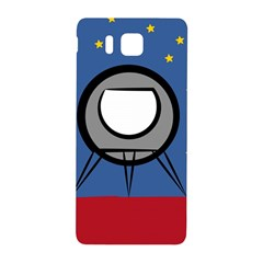 A Rocket Ship Sits On A Red Planet With Gold Stars In The Background Samsung Galaxy Alpha Hardshell Back Case