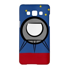 A Rocket Ship Sits On A Red Planet With Gold Stars In The Background Samsung Galaxy A5 Hardshell Case