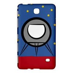 A Rocket Ship Sits On A Red Planet With Gold Stars In The Background Samsung Galaxy Tab 4 (8 ) Hardshell Case